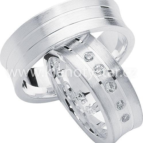 Snubní prsteny Stříbro S 28