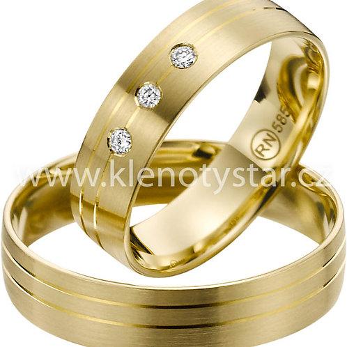 snubní prsteny - R139