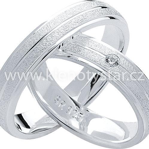 Snubní prsteny Stříbro S 22