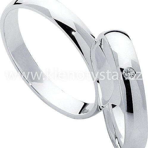 Snubní prsteny Střibro S 02