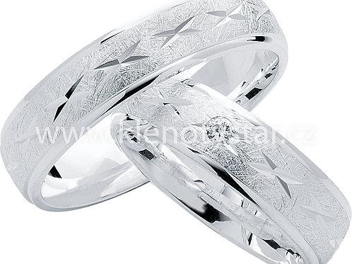 Snubní prsteny Stříbro S 17