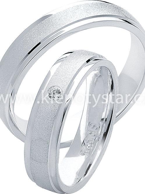 Snubní prsteny Stříbro S 21