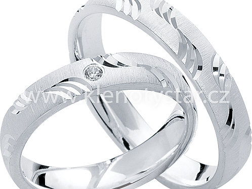 Snubní prsteny Stříbro S 14