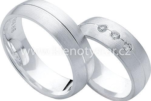 Snubní prsteny Stříbro S 27