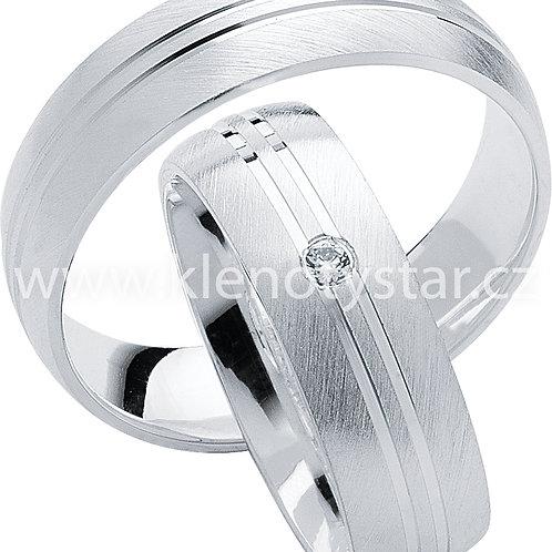 Snubní prsteny Stříbro S10