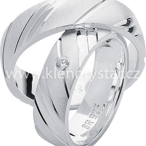 Snubní prsteny Stříbro S 15