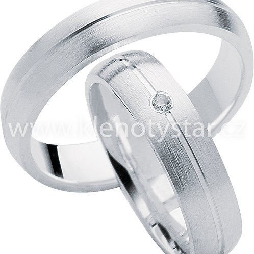 Snubní prsteny Stříbro S 11