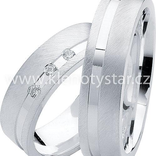 Snubní prsteny Stříbro S 06