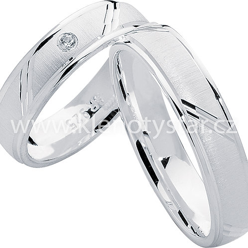 Snubní prsteny Stříbro S 18