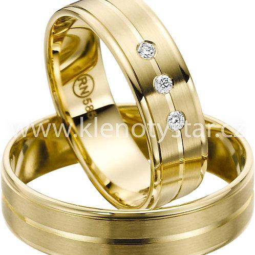 snubní prsteny - R140
