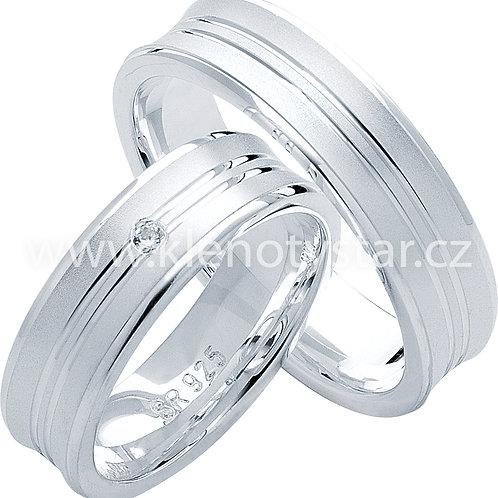 Snubní prsteny Stříbro S 26