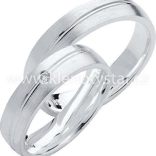 Snubní prsteny Střibro S 09
