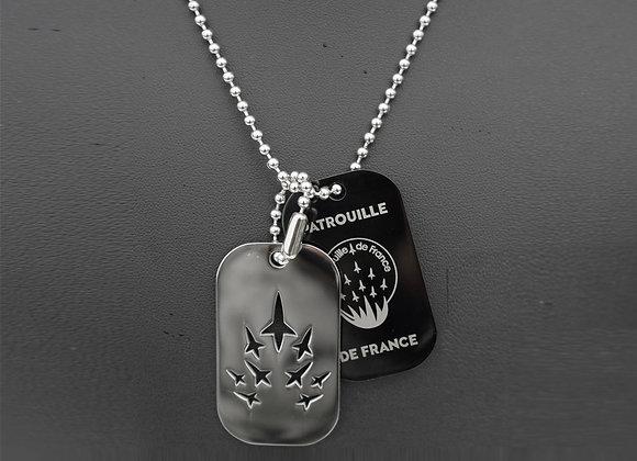 Pendentif PATROUILLE DE FRANCE plaques militaires