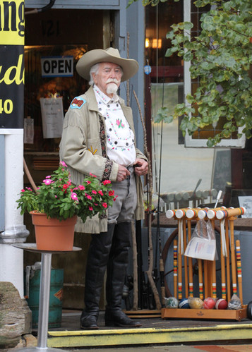 Buffalo Bill pays a visit to Drovers Coi