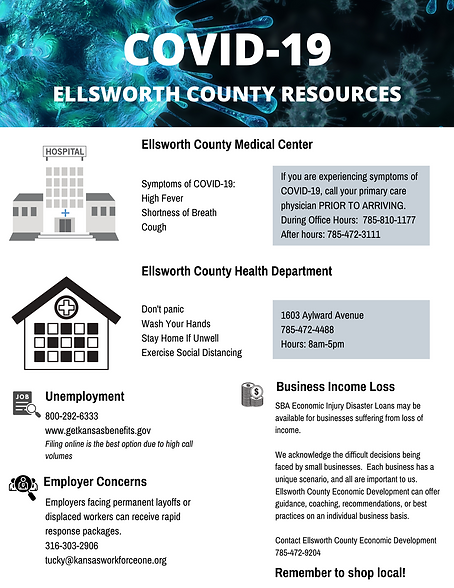 COVID-19 ELLSWORTH COUNTY RESOURCE GUIDE