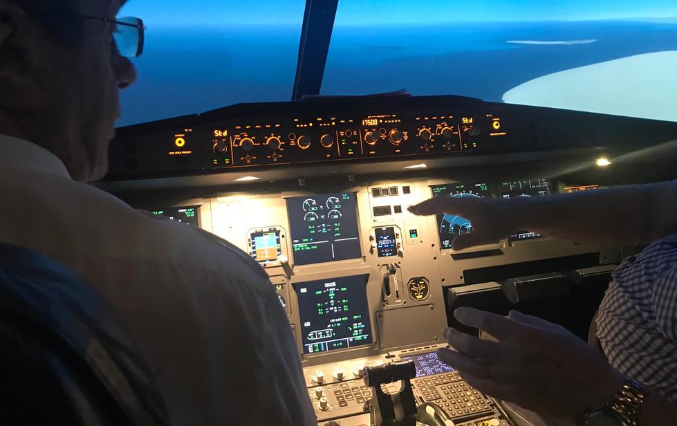 Airbus A320 in flight