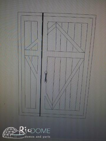 שרטוט דלת כפולה