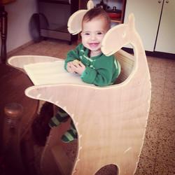 כיסא אוכל קנגורו לתינוק