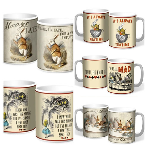Alice In Wonderland Mugs