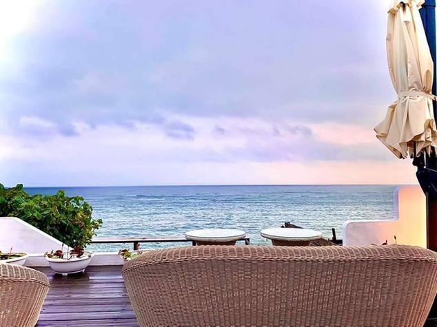 夢想地圖咖啡館美麗的海景