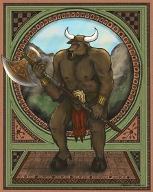 Portrait of a Minotaur