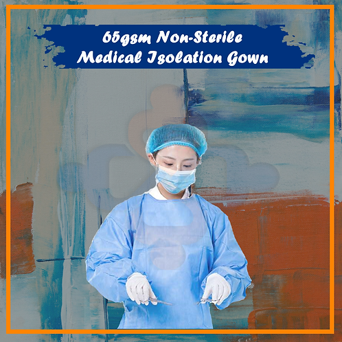 65gsm Non-Sterile Medical Isolation Gown