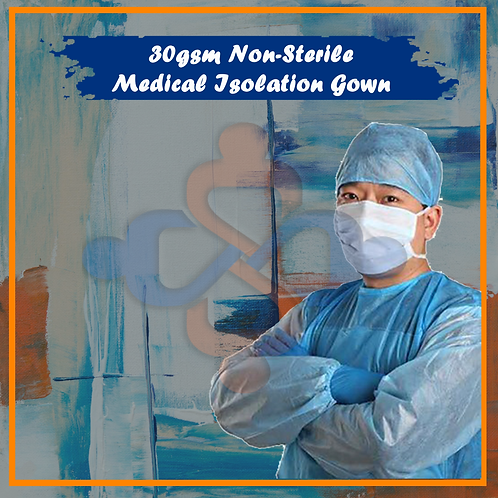 30gsm Non-Sterile Medical Isolation Gown