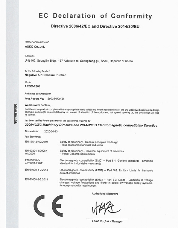 CE Certification for ARDC-2501