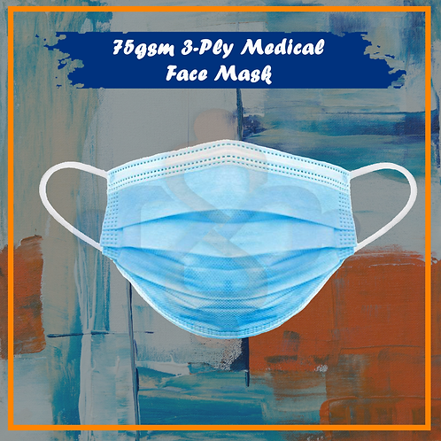 75gsm 3-PLY Medical Face Mask