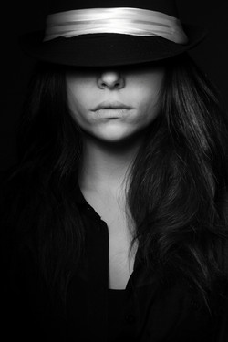 grayscale-photo-of-woman-wearing-hat-143