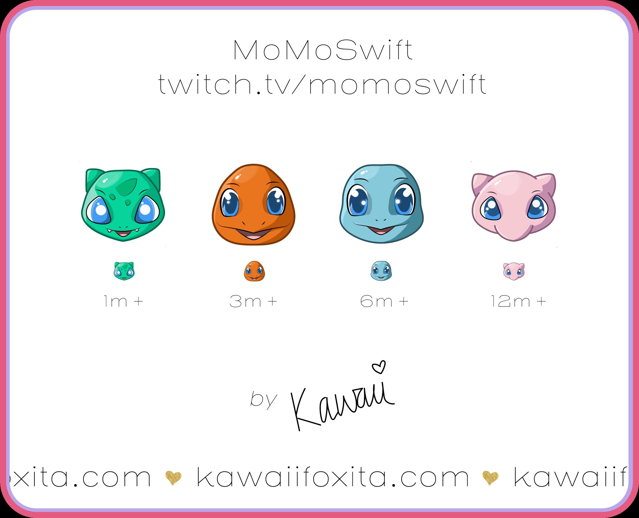 Twitch Sub Badges | Digital Emote Artist | London UK | Kawaiifoxita