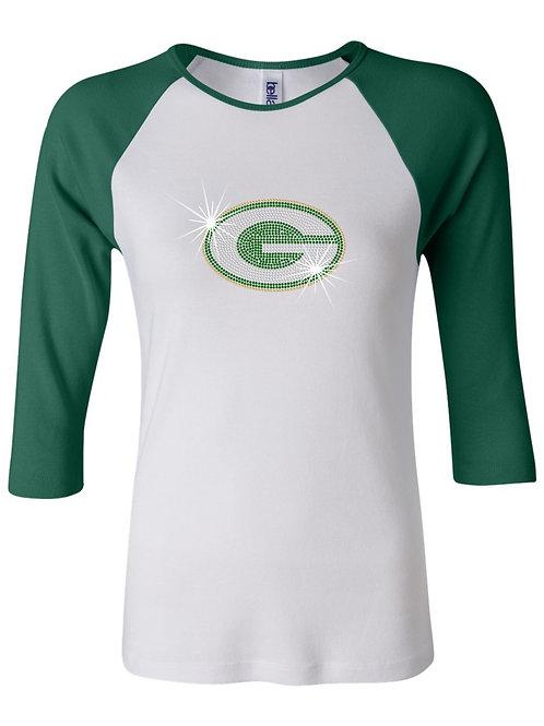 Greenwood-Ladies 3/4 Sleeve Baseball T-shirt