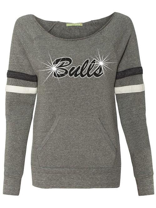 Bulls-Ladies scoop neck fleece sweatshirt