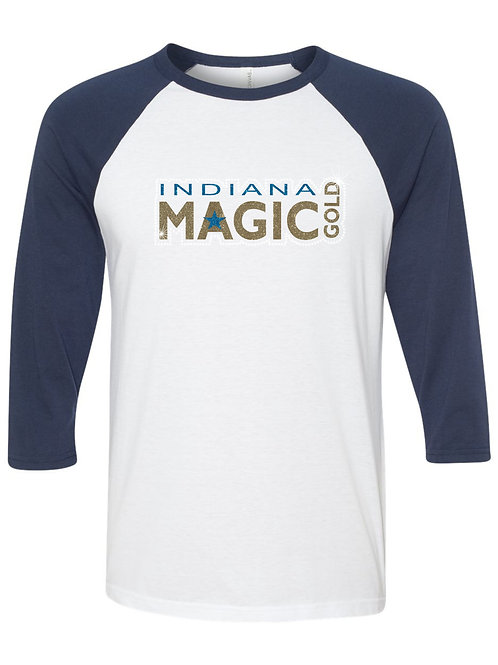 Magic Gold-3/4 Sleeve Baseball T-shirt