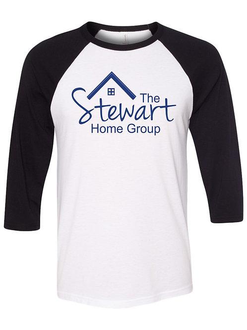 The Stewart Home Group-3/4 Sleeve Baseball T-shirt