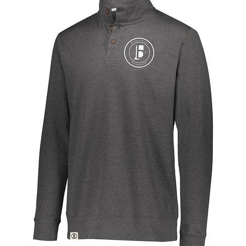 B & W Fleece Button Pullover