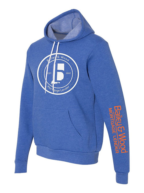 B&W-Circle Logo-Hooded Sweatshirt
