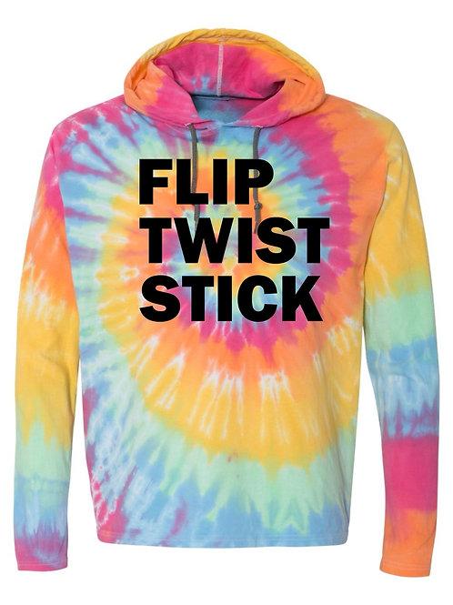 FLIP TWIST STICK Tie-Dye Hooded Sweatshirt
