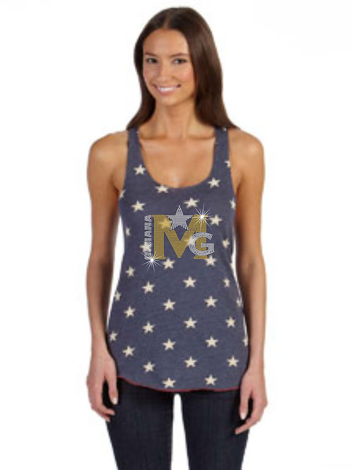 Magic Gold-Ladies Racerback Tank