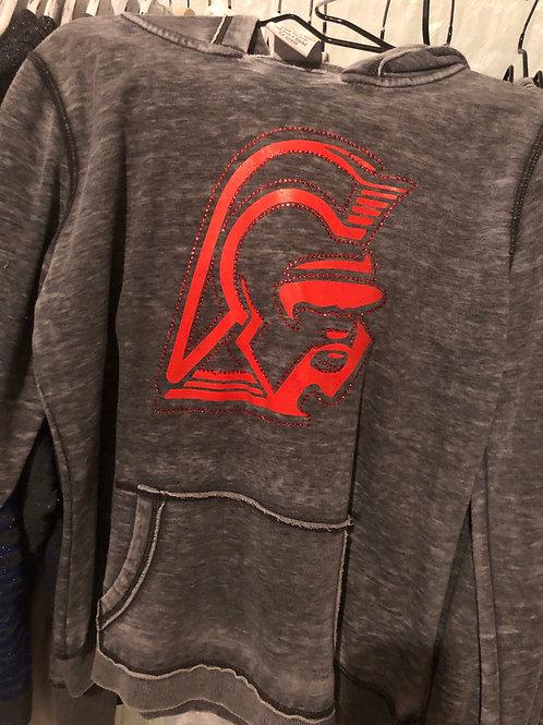 Trojans-Weathered Hooded Sweatshirt