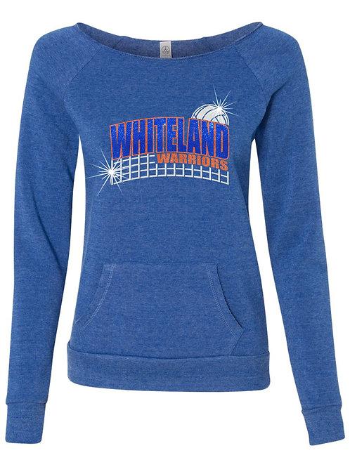 Whiteland Warriors-Ladies Wide Neck Pocket Fleece