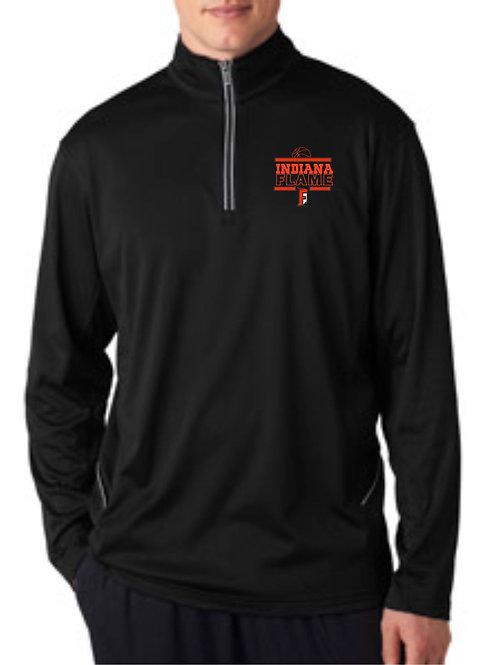 Flame-Men's Pullover 1/4 zip longsleeve