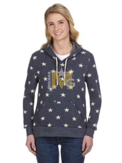 Magic Gold-Ladies Stars Fleece Hoody