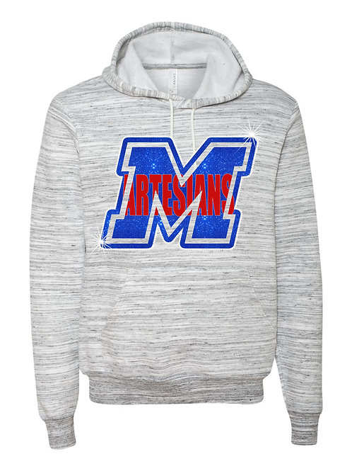 Martinsville-White Marble Fleece Hoody