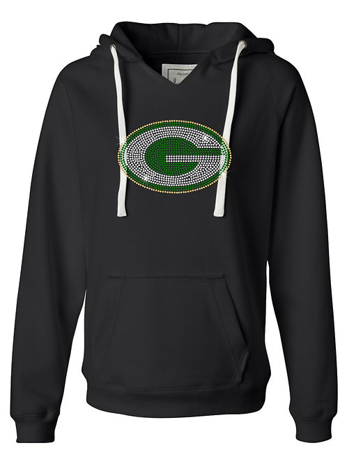 Greenwood Woodmen- Ladies V neck Hooded Fleece