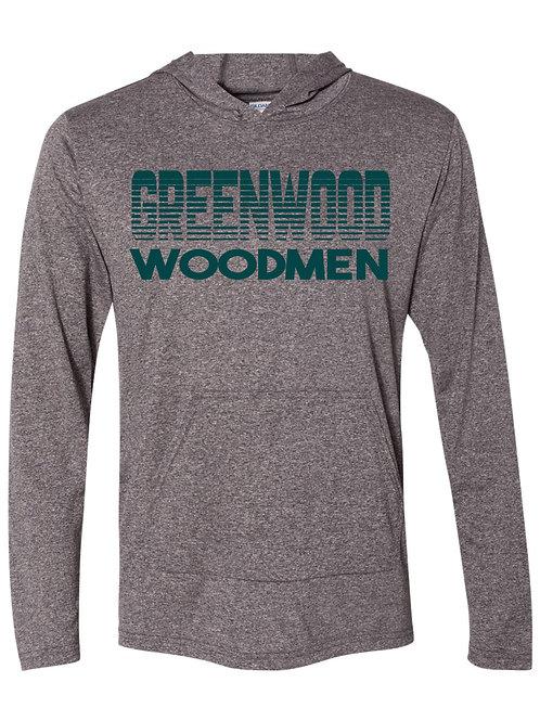 Greenwood Woodmen-Dri Fit Long sleeve Hooded T-shirt