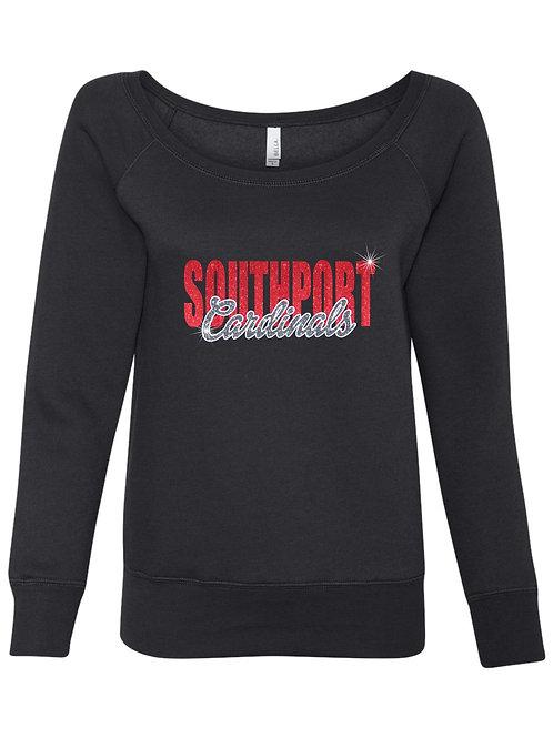 Southport Cardinals-Ladies Wide Neck Fleece