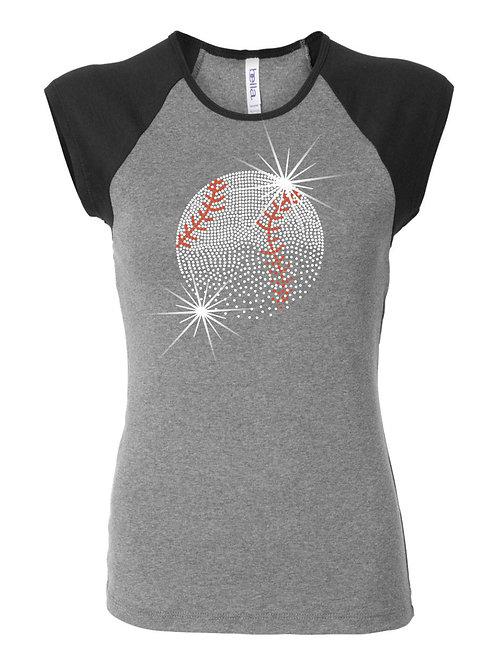 Baseball-Women's Cap Sleeve T-shirt