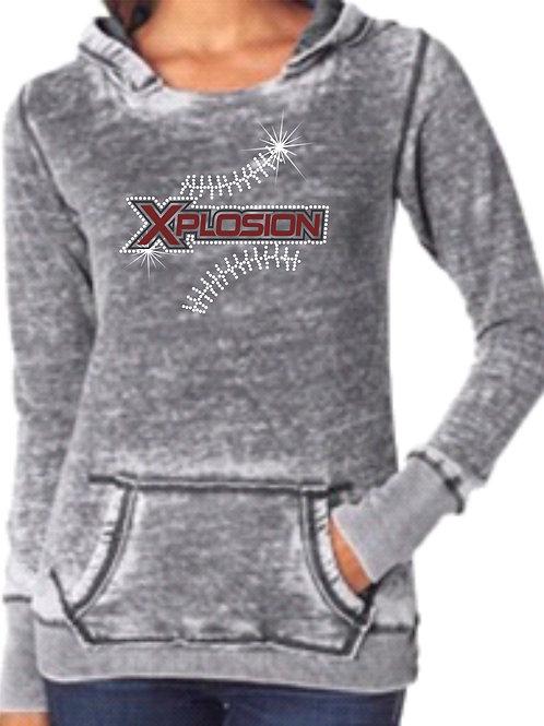 Xplosion-Ladies Weathered Grey Hoody