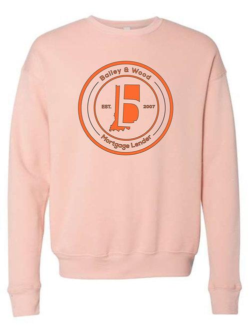 B & W-Crew Fleece Sweatshirt